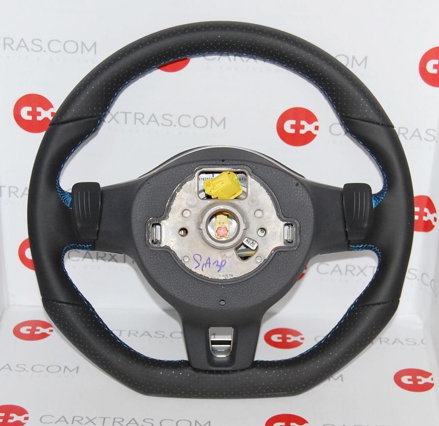 nouveau vw golf vi multifonction volant avec airbag fond plat r line ebay. Black Bedroom Furniture Sets. Home Design Ideas